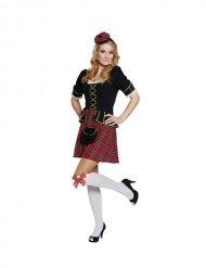 Déguisement écossaise femme noir doré rouge