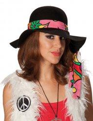Chapeau hippie noir femme
