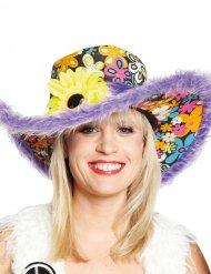 Chapeau à fleurs multicolore adulte
