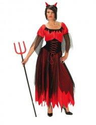 Déguisement diablesse rouge-noir femme