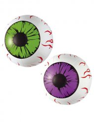 Yeux gonflables Halloween blanc 25cm
