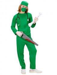 Déguisement chirurgien enfant vert Halloween