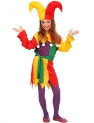 Déguisement bouffon multicolore enfant
