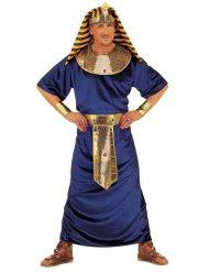 Déguisement pharaon égyptien bleu et doré homme