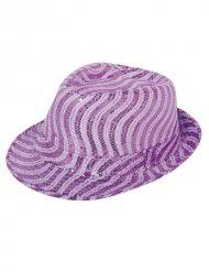 Fedora Sequin Hat for Women purple