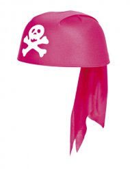 Bandana de pirate fille rose