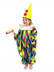 Déguisement combinaison clown enfant coloré