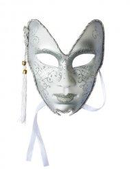 Masque vénitien carnaval argenté