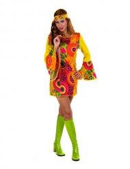 Déguisement hippie femme jaune