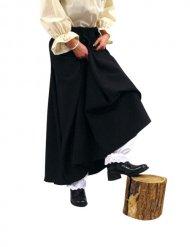 Jupe longue noire de sorcière pour Halloween