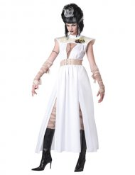 Zombie monstre Halloween blanc beige femme