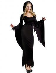 Déguisement sorcière gothique Halloween femme noir