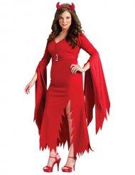 Déguisement diable Halloween rouge femme