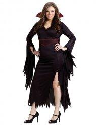 Déguisement de vampire gothique Halloween femme grande taille