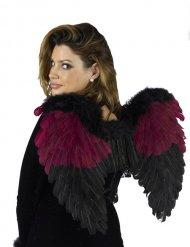 Ailes ange gothique bordeaux-noir adulte