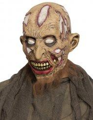 Masque zombie déchiqueté beige adulte
