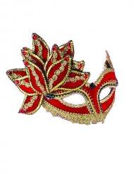Masque Vénitien rouge et or adulte