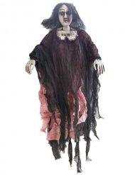 Décoration à suspendre zombie femme 90cm