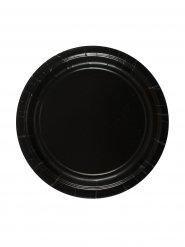 8 Assiettes noires en carton