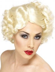 Perruque courte blond platine star femme