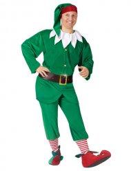 Déguisement elfe de Noël vert adulte