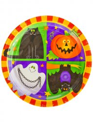 10 Assiettes en carton Happy Halloween 23 cm