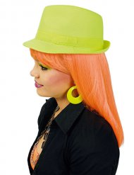 Chapeau de fête jaune fluo néon