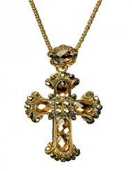 Collier croix gothique baroque adulte