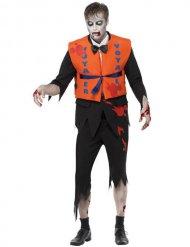 Déguisement zombie naufragé orange noir homme