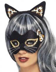 Kit chat léopard femme