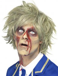 Perruque courte blonde zombie homme Halloween