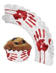 12 banderoles décoratives ensanglantés pour Cupcakes
