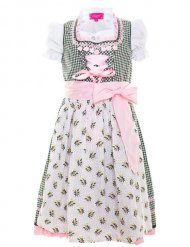 Krüger Children Dirndl for Girls pink-green