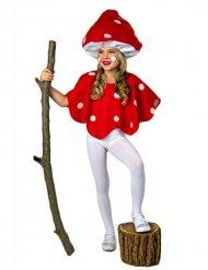 Déguisement champignon rouge et blanc enfant
