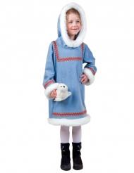 Déguisement esquimau bleu blanc fille