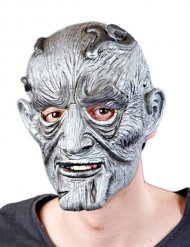 Masque monstre Halloween gris