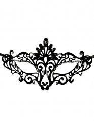 Masque vénitien pour les yeux parure gothique noir