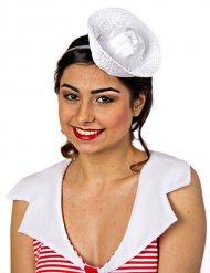 Serre-tête petit chapeau de marin femme blanc