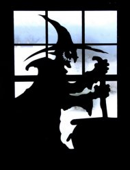Sticker de fenêtre à motif sorcière