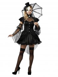 Déguisement poupée gothique femme Halloween
