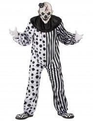 Déguisement clown monstrueux noir et blanc adulte