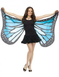 Ailes de papillon adulte bleu et noir