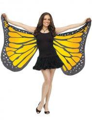Ailes de papillon souples jaunes et noires