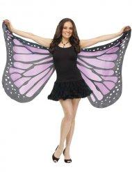 Ailes de papillon adulte violet et noir