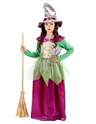 Déguisement petite sorcière colorée fille