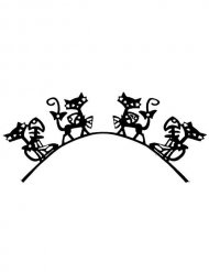Faux cils chat noir adulte