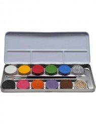 Palette de maquillage 12 couleurs et paillettes