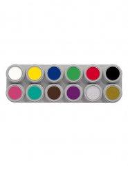 Grimas Aqua Make-Up, une palette de 12 Couleurs