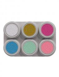 Palette maquillage 6 couleurs pailletées Grimas® 15ml