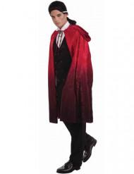 Cape de vampire rouge et noire avec capuche